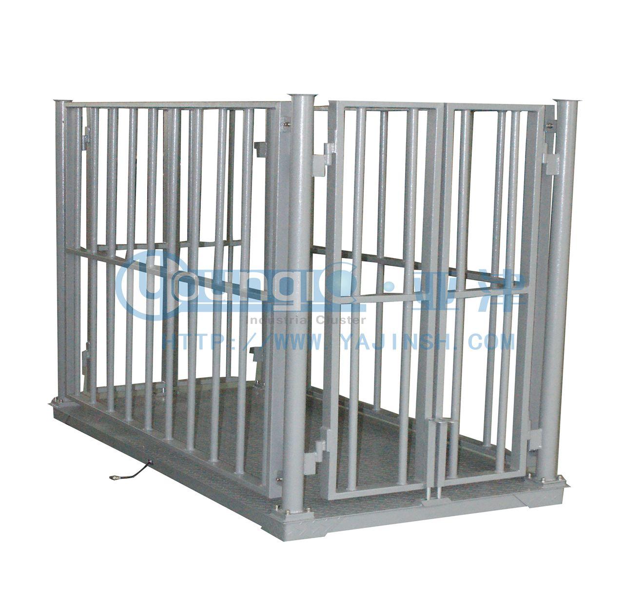 供应亚津碳钢牲畜秤 大量程动物专用地磅秤